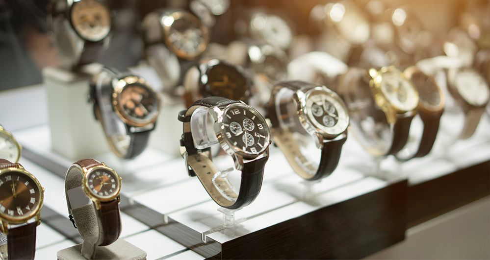 rolex watch selection at pawn shop